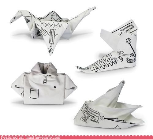disposable fold instructions napkins origami paper - 5066674432