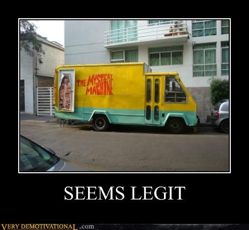 hilarious,mystery machine,scooby doo,seems legti