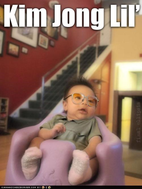 Babies kids Kim Jong-Il look alikes North Korea puns - 5066751488