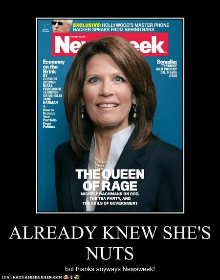Hall of Fame,Michele Bachmann,Newsweek,political pictures