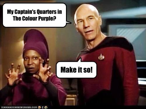 My Captain's Quarters in The Colour Purple? Make it so!