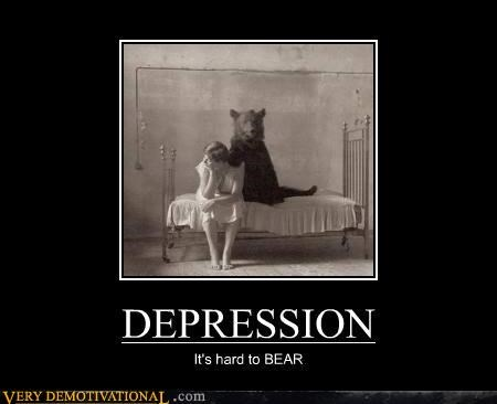 animals bear depression hilarious old timey - 5067414272