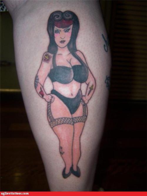 brunette pin up stockings woman - 5067462400