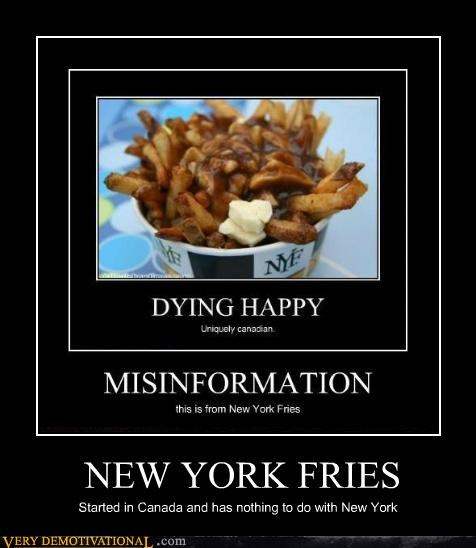 Canada,hilarious,new york fries,poutine