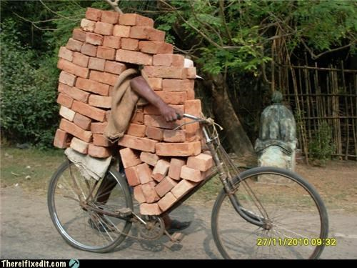 bricks moving day Professional At Work wheel barrow - 5068302592