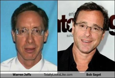 actors,bob saget,comedians,criminals,insane,mentally incompetent,pedophile,religious zealot,Warren Jeffs