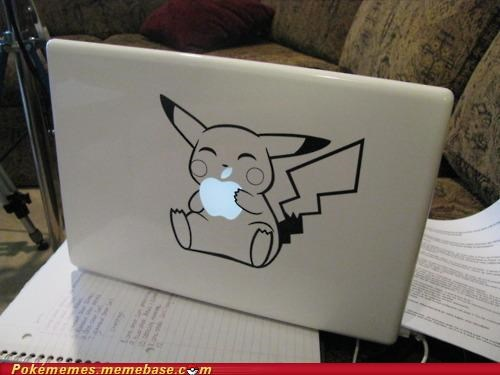 apple,eat,IRL,mac book,pikachu