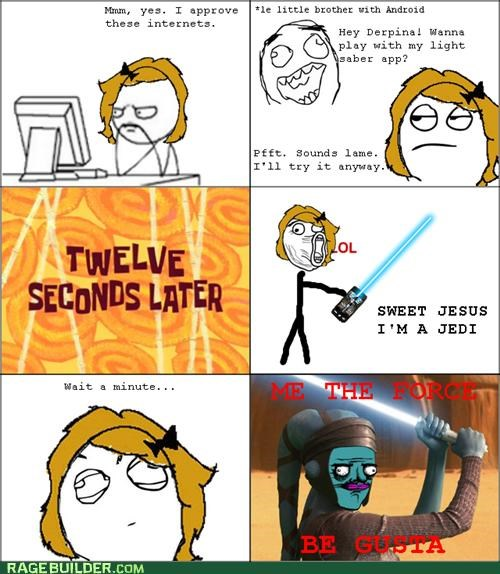 App me gusta phone Rage Comics star wars the force