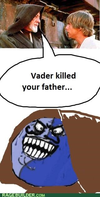 Father,i lied,Luke,Rage Comics,star wars,vader