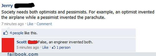 engineer optimists pessimist witty reply - 5068564736