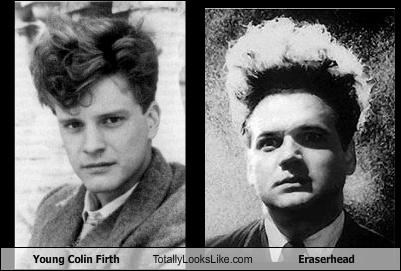 Young Colin Firth Totally Looks Like Eraserhead