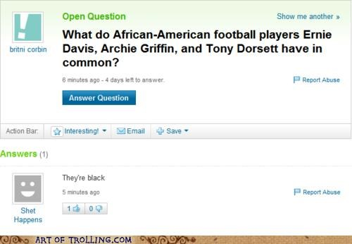 african american,black,common,football players,Yahoo Answer Fails