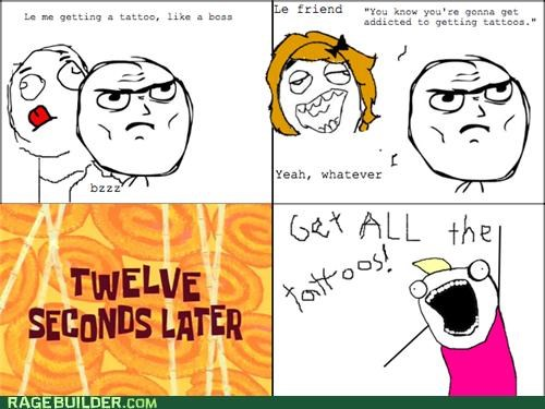 addiction,all the guy,all the things,Rage Comics,tatoos