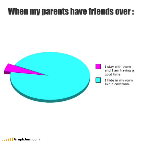 friends hide old people parents Pie Chart