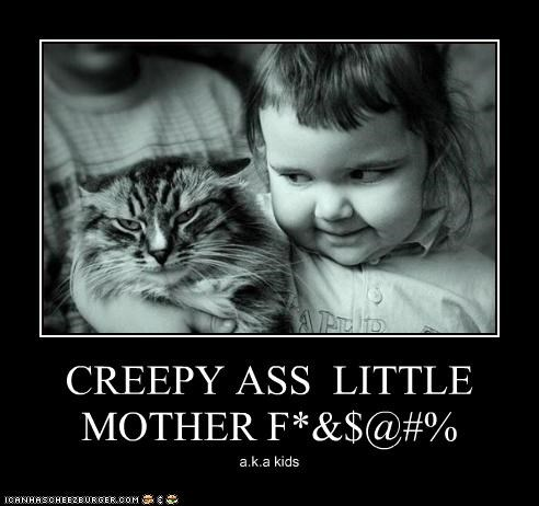 Babies Cats creepy glares hugs I Can Has Cheezburger kids not amused - 5068752128