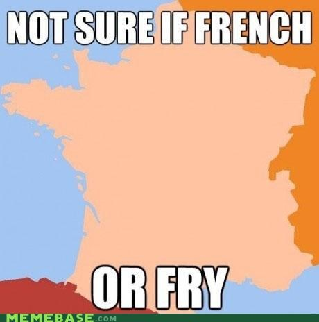 countries,france,french fries,fry,map,puns