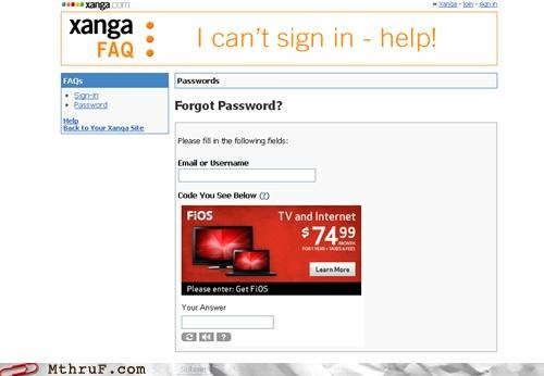 advertising captcha password sign in