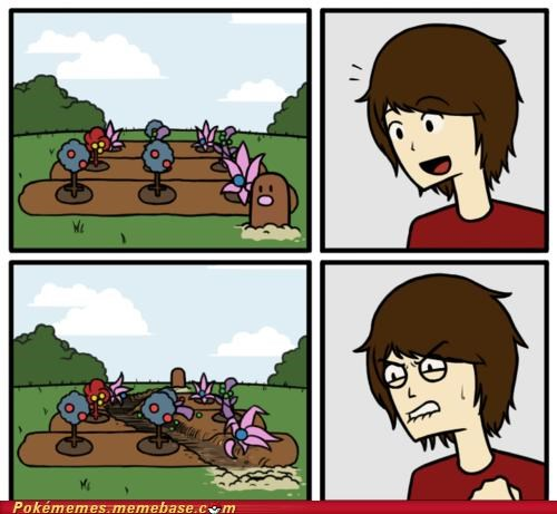 comic dig diglett wednesday flowers garden wtf