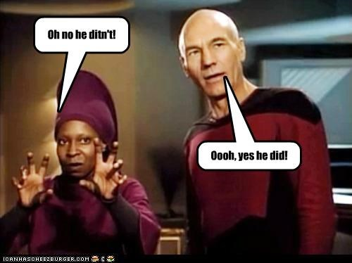 actor celeb funny patrick stewart sci fi Star Trek TV whoopi goldberg - 5069451264