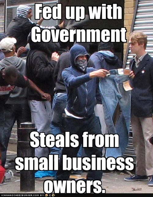 business FAIL government London london riots politics Pundit Kitchen riots scumbag - 5069634048