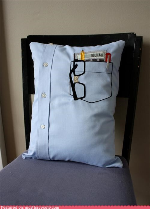 calculator glasses nerd Pillow pocket shirt - 5070738432