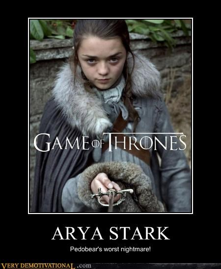 arya stark,Game of Thrones,hilarious,needle