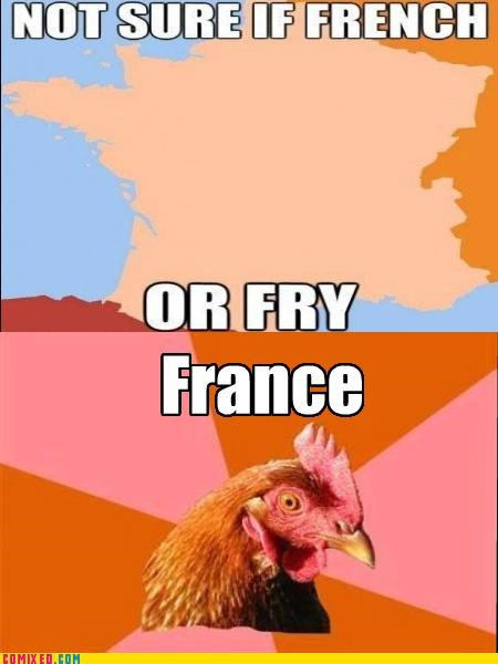 anti joke chicken,france,fry meme,meme,the internets