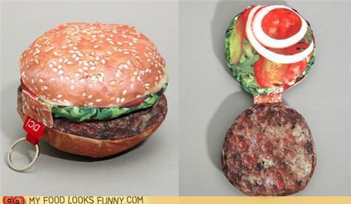 burger fabric fat fold purse wallet