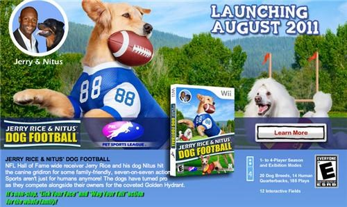 dog football,jerry rice and nitus dog football,judobaby,sports,video games,vids,wii
