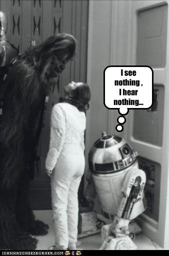 I see nothing , I hear nothing...