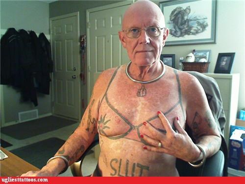 bra,Hall of Fame,nipple ring,Ugliest Tattoos,wardrobe malfunction