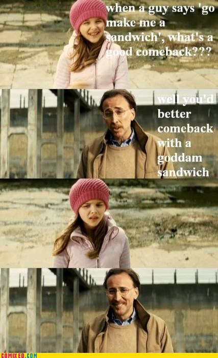 From the Movies,kick ass,nicholas cage,sandwich