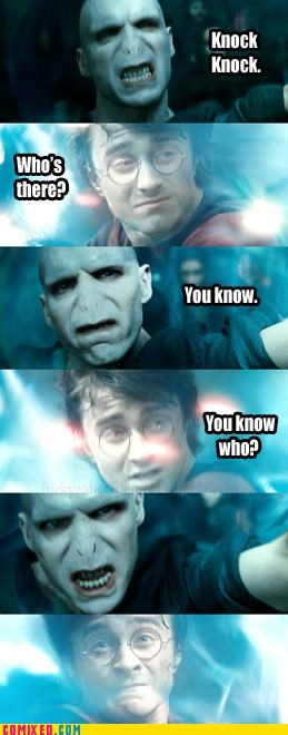duel Harry Potter knock knock joke voldemort - 5072760320