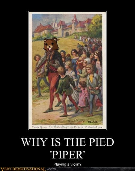 hilarious pedobear pied piper violin wtf - 5072828928
