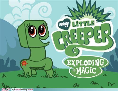 creeper explode mine craft wtf