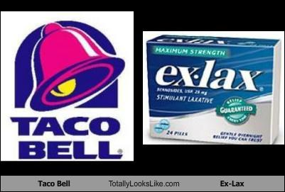 exlax,ex-lax,fast food,laxative,mexican food,taco bell