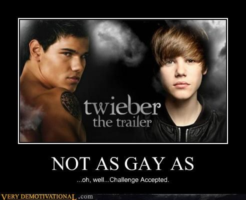 NOT AS GAY AS ...oh, well...Challenge Accepted.