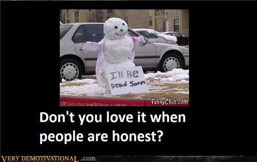 hilarious honest people snowman