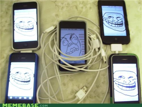 cords,friends,iphone,rage,Rage Comics,troll