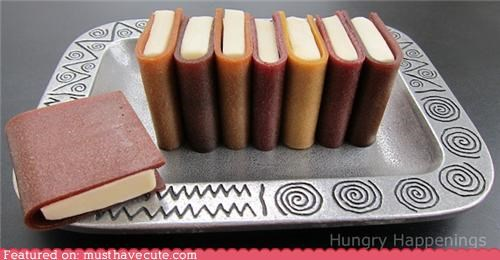 books,edible,fruit leather,modeling chocolate,snack