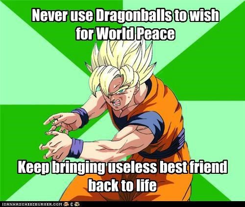 best friend dragonball goku Memes world peace