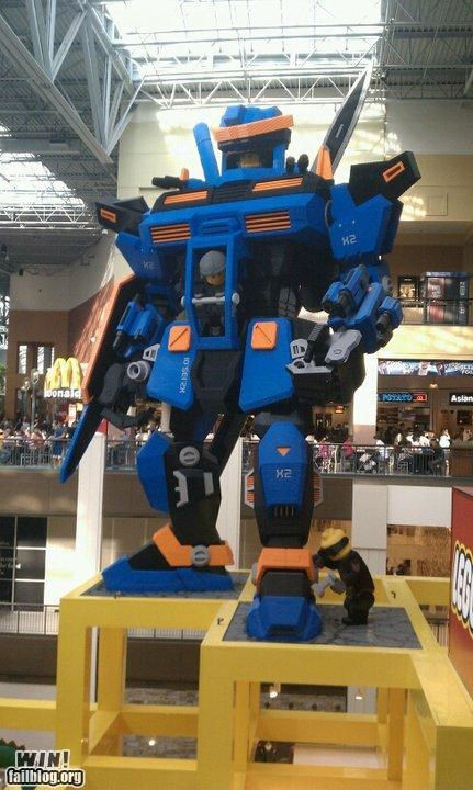 giant,lego,mall,nerdgasm,robot,toy