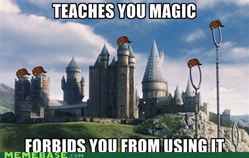 castle Harry Potter Hogwarts magic Memes school - 5073393920