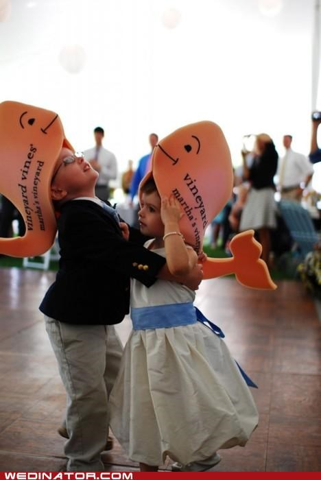 children,funny wedding photos,hats,kids