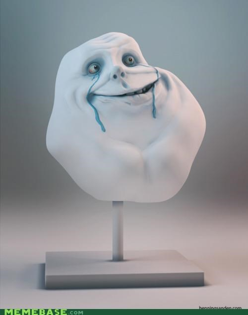 3d,crying,forever alone,Sad,sculpture