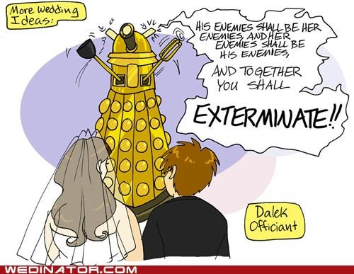 dalek,doctor who,funny wedding photos,Hall of Fame