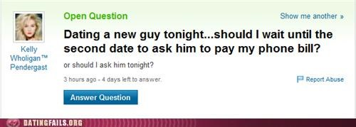 first date paying phone bill We Are Dating yahoo answers - 5073582592