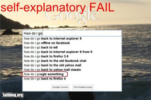 Autocomplete Me failboat google g rated stupidity technology