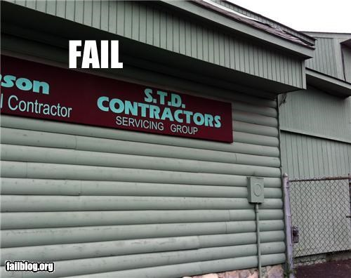 acronym business name failboat innuendo Professional At Work signs - 5073646848