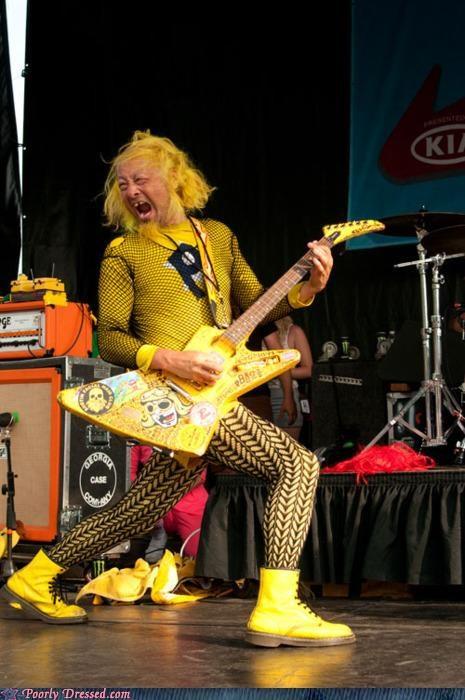 band leggings Music testingzone yellow - 5074031616